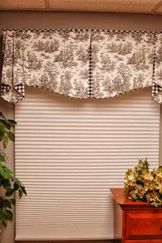 Custom Valance MAISON Hidden Rod Pocket by BlackBeltHomeDecor