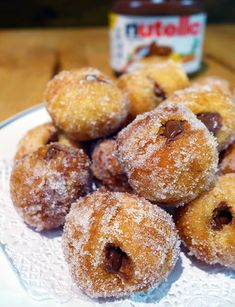 Our Take on Nutella-Stuffed Cronut Holes, Enough Said Nutella Recipes, Donut Recipes, Baking Recipes, Pillsbury Recipes, Breakfast Recipes, Dessert Recipes, Delicious Desserts, Yummy Food, Cookies