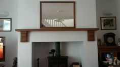 Kiln dried oak mantel shelf with corbels to give a stunning look to your fireplace. Oak Mantel, Mantel Shelf, Shelves, Living Room, Photos, Furniture, Home Decor, Shelving, Pictures