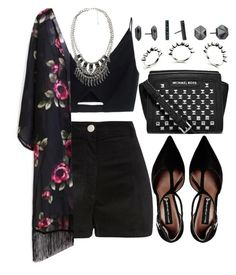 """""""1095."""" by adc421 ❤ liked on Polyvore featuring Versace, River Island, Steve Madden, MICHAEL Michael Kors, Eddie Borgo, MANGO and Kendra Scott"""
