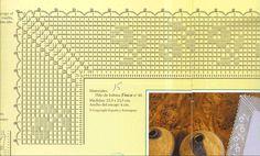 Платочек с вязаной крючком каймой 4 схема