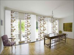 Something like this for double patio doors.  Window Treatments For Sliding Patio Doors