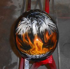 Helmet airbrush art - part 1