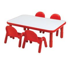 "Angeles Baseline 60"" x 30"" Rectangular Activity Table Side Finish: Ocean Blue, Table Size: 14"" H"