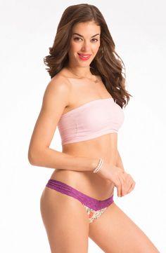 "PrettySecrets Baby Pink ""Flirt alert!"" Strapless Bandeau Bra Price  Rs. 499 362257b2c"