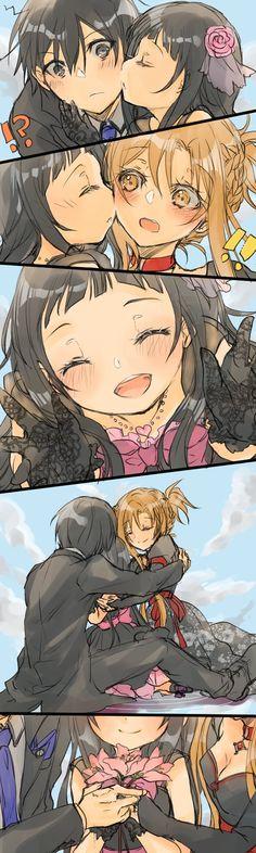 Anime Couples Manga, Anime Henti, Anime Life, Anime Demon, Otaku Anime, Anime Girls, Kirito Asuna, Sword Art Online Wallpaper, Anime Friendship