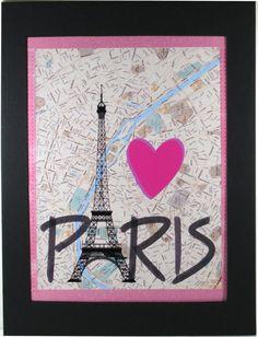 I Love Paris Print Paris Decor by NewJerseyAccents on Etsy, $18.00