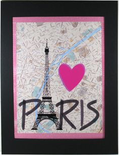 I Love Paris Print Paris Decor by NewJerseyAccents on Etsy, $18.00