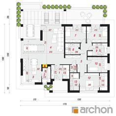 Projekt domu Dom w przebiśniegach 3 - ARCHON+ Modern House Design, Home Projects, Bungalow, House Plans, Floor Plans, How To Plan, Home Plans, Blue Prints, Decorations