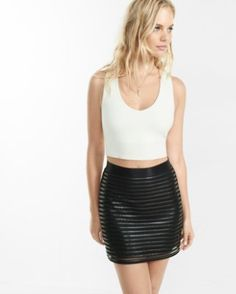 black liquid mesh high waisted skirt