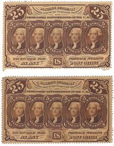 Fr. 1279 1st Issue 25 Cent Fractionals (2) A total of 2 fractionals are offered here. All the fractionals are from a single collection assembled in the 1960s. All are conservatively graded.