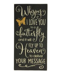 Another great find on #zulily! 'Whisper I Love You' Wall Sign by Sara's Signs #zulilyfinds