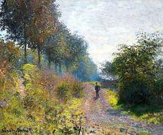 "Claude Monet, ""The Sheltered Path""  on ArtStack #claude-monet #art"