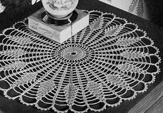 Sundial Doily crochet pattern originally published in Pineapple Pageant, Spool Cotton Co. #252.