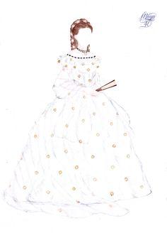 Melinda's Secret Wardrobe - Sisi famous dress by on DeviantArt Gown Dress Design, Royal Paper, Romy Schneider, Woman Drawing, Native Americans, Paper Dolls, Parisian, Designer Dresses, High Fashion