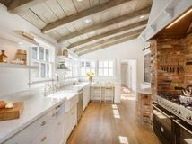Kitchen of the Week: Brick, Wood and Clean White Lines Love the clean lines and how light and spacious it looks.