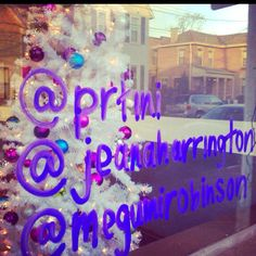 Creative use for storefront windows: Write your teams' Twitter handles! :)