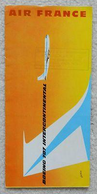 AIR FRANCE B707 CUTAWAY PROFILE BROCHURE - 1959