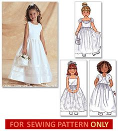 Childs Pageant, Flower girl Dress Sewing Pattern, Girls Party Dress, Childs dress up dress pattern, Size Butterick 3351 Flower Girls, Flower Girl Dresses, Flower Girl Dress Patterns, Girls Dresses Sewing, Little Girl Dresses, Childrens Sewing Patterns, Dress Sewing Patterns, Première Communion, Wedding Dress Patterns