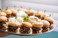 Mini Sliders I Hors d' Oeuvre I Appetizer I San Diego Wedding I Full Service Catering