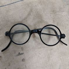 a57926c3d0 Vintage 1920s black round frame eyeglasses glasses  fashion  clothing   shoes  accessories