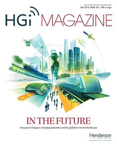 Andy Potts illustrated a future-themed cover for Henderson Global Investors Magazine.