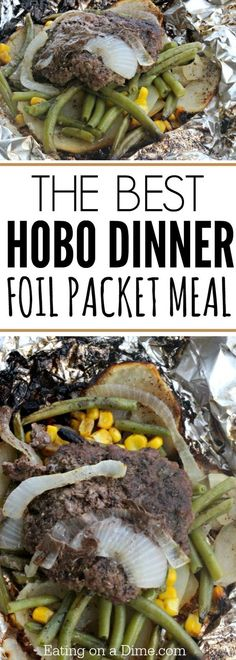 The Best Hobo Dinner Foil Packet Meal We love this simple Hobo Dinner Foil Packet Meal for the grill and campfires. It is the best hobo dinner recipe for Summer dinners and warm nights. Such an easy grilling recipe! Tin Foil Dinners, Foil Packet Dinners, Foil Pack Meals, Hobo Dinner Recipes, Dinner Meal, Dinner Healthy, Hobo Packets, Hobo Dinners, Sauce Pizza