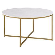 Walker Edison X-Base Coffee Table