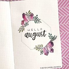 bullet journal I am fairly late to the August party, but, I hate to leave you hanging. So, here are 22 hello August bullet journal layouts ideas! Bullet Journal August, Bullet Journal School, Bullet Journal Title Page, Birthday Bullet Journal, Bullet Journal Cover Ideas, Bullet Journal Notebook, Bullet Journal Inspiration, Journal Covers, Junk Journal