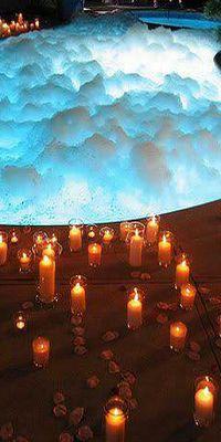 candles & loooooots of bubbles!