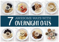 Overnight oats are a delicious, healthy breakfast that we LOVE. If you're new to overnight oats, here are 7 delicious ideas to get you started! (gluten free & vegan)