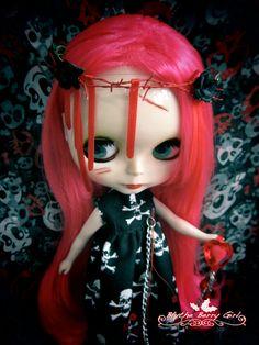 Blythe Gothic Punk Halloween Zombie bleeding by BlytheBerryGirl, ฿500.00