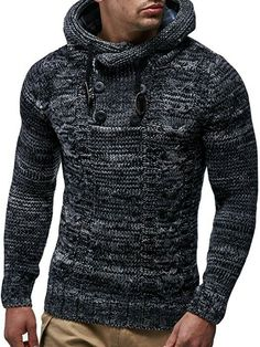 Mens LCR Designer Casual Knitted Stylish Longsleeve Top Jacket Hoody Jumper
