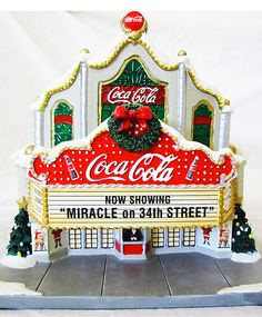 "Coca-Cola ""Miracle on Street"" Vintage Coca Cola, Coca Cola Ad, Always Coca Cola, World Of Coca Cola, Christmas Village Display, Christmas Villages, Christmas Themes, Christmas Fun, Christmas Design"