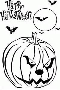 Halloween Coloring Pages Free Printable Scary Home