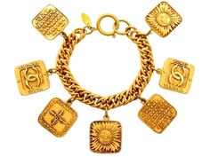 Vintage Chanel Bracelet with sun charms
