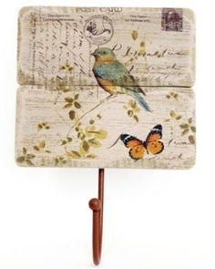 In A Country Cottage is coming soon! Shabby Chic Kitchen Accessories, Storage Hooks, Natural Wood Finish, Shabby Chic Homes, Bird Design, Wood And Metal, Country Style, Vintage World Maps, Birthday Gifts