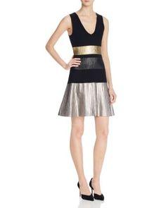 Parker Bria Metallic Knit Dress | Bloomingdale's