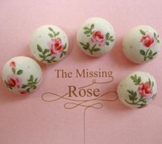 COLINCJH on etsy. 5 pcs 15mm Fabric Buttons Covered Buttons Sewing Buttons Shank Buttons Rose Buttons Hair Tie Buttons Handmake Buttons