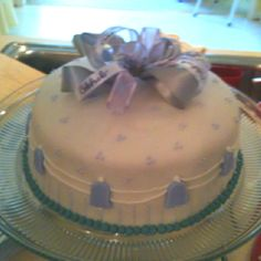 Bridal shower cake with a nice lavender touch