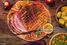 Stock Photo : Glazed Holiday Ham with Cloves Background Holiday Ham, Food Photo, Glaze, Ethnic Recipes, Photos, Enamel, Pictures, Display Window, Food Photography