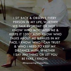 I observe