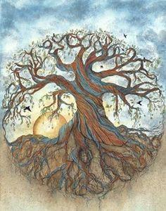 Celtic tree of life Tree Of Life Art, Celtic Tree Of Life, Tree Art, Bodhi Tree, Circle Of Life, Painting Inspiration, Illustration Art, Drawings, Roots