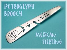 Sterling Silver Southwest Indian Petroglyphs by FindMeTreasures