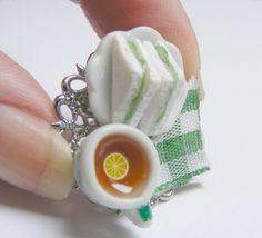 Bijoux alimentaire thé au citron et concombre par NeatEats sur Etsy