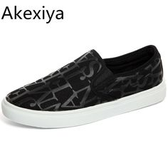 Akexiya Men Flats Shoes Breathable Man's Canvas Shoes 2016 Fashion Luxury Brand Casual Black Loafers Men Slip On Zapatos Hombre