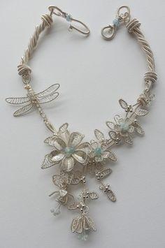 Fuschia Dragonfly necklace by Rachel Norris. Fab!