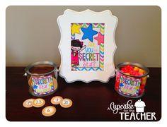 Secret Star {Freebie} >> Similar to Secret Pocket.... Secret Star is a classroom management tool that works WONDERS on hallway behavior, assembly behavior, teacher talking to the Principal by the door behavior… you get the idea!