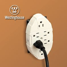 Westinghouse®  Six Outlet Adapter converts a standard dual outlet into a station for up to six electronic devices or appliances. #backtoschool