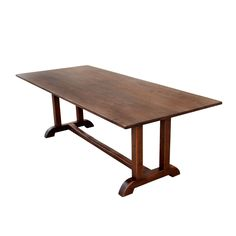 Vintage Walnut Dining Table | From a unique collection of antique and modern dining room tables at https://www.1stdibs.com/furniture/tables/dining-room-tables/